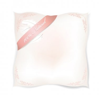 Pillow isolated on white background. Sweet dreams vector concept illustration.