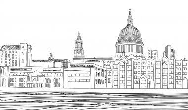 St Paul's Cathedral. London landscape