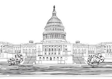 Washington DC Capitol landscape, USA