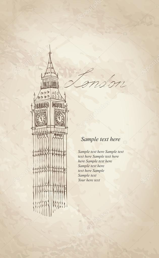 el Big ben, Londres, Inglaterra, Reino Unido — Vector de stock ...