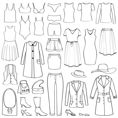 Fashion icons set.