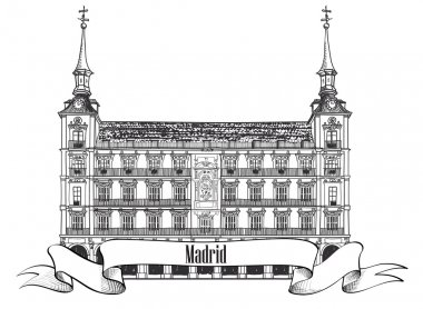 Madrid travel label