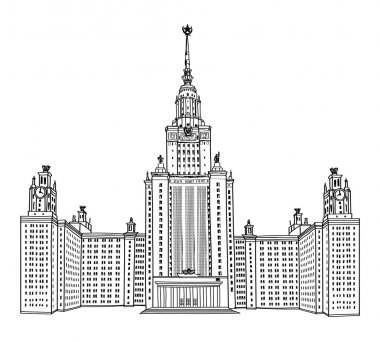 Moscow State University, Moscow. MGU