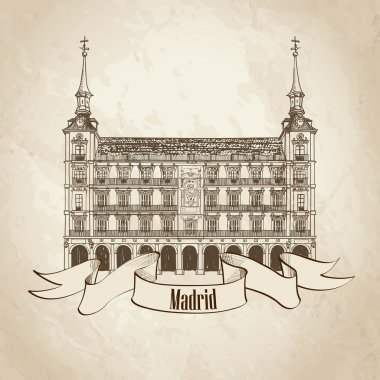 Travel Madrid label
