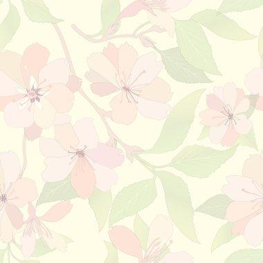 Flower seamless background.