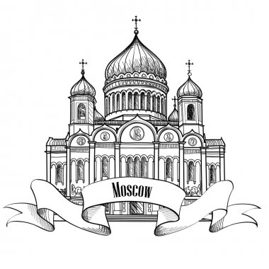 Moscow Travel city label