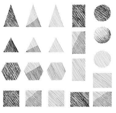 Geometric shapes set