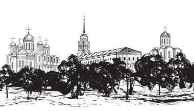 ancient russian city Vladimir