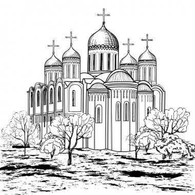 Ancient russian city icon