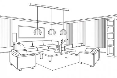sketch of a interior.
