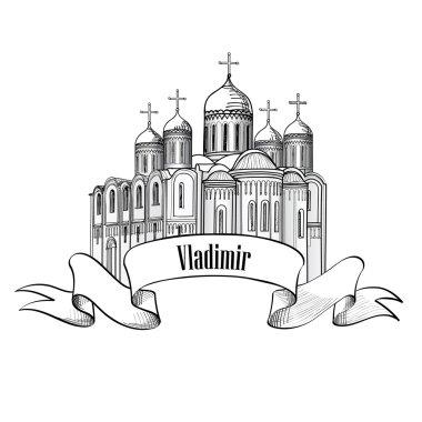 Vladimir russian city icon