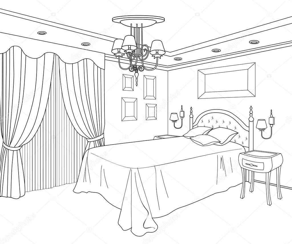Muebles recamara vector de stock yokodesign 48112549 - Dibujos en habitaciones infantiles ...