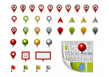 Map navigation icons