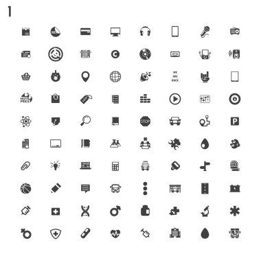 Black flat icons