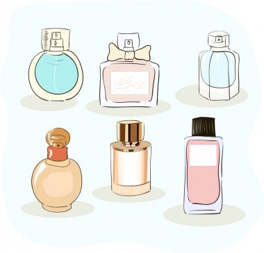 Set of a perfume bottle