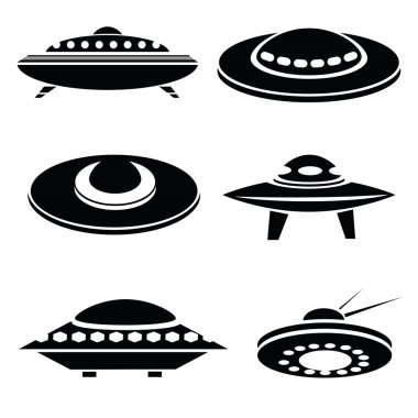 silhouettes of spaceships