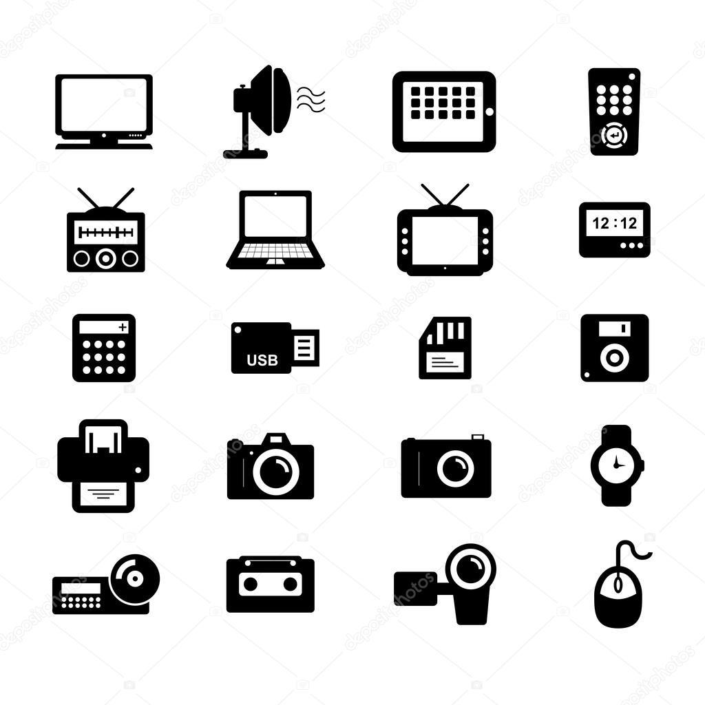 electronics icon  u2014 stock vector  u00a9 tzubasaz  20802405