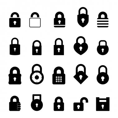 Padlock Icon set for your design stock vector