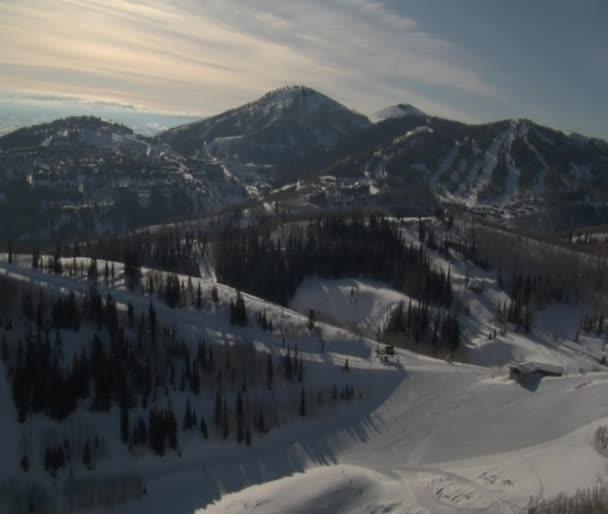 Aerial shot of deer Valley resort Park city Utah