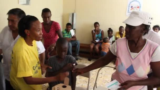 Vaccination clinic in Haiti