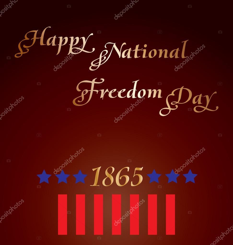 glücklich nationale Freiheit Tag — Stockvektor © Lappenno2 #39505685