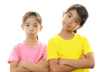 Portrait of Asian schoolgirls