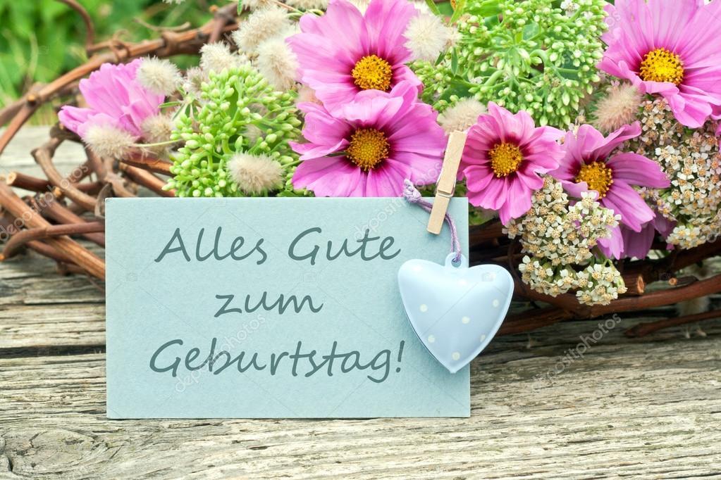blahopřání k narozeninám v němčině přání k narozeninám — Stock Fotografie © coramueller #30260415 blahopřání k narozeninám v němčině