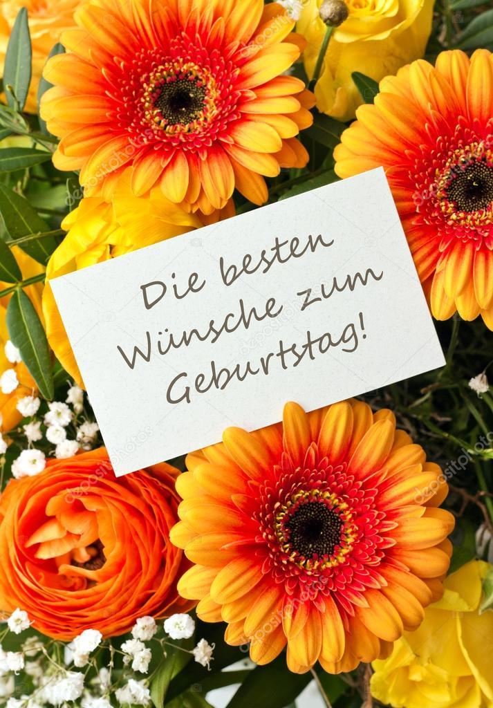 blahopřání k narozeninám v němčině přání k narozeninám — Stock Fotografie © coramueller #41948785 blahopřání k narozeninám v němčině