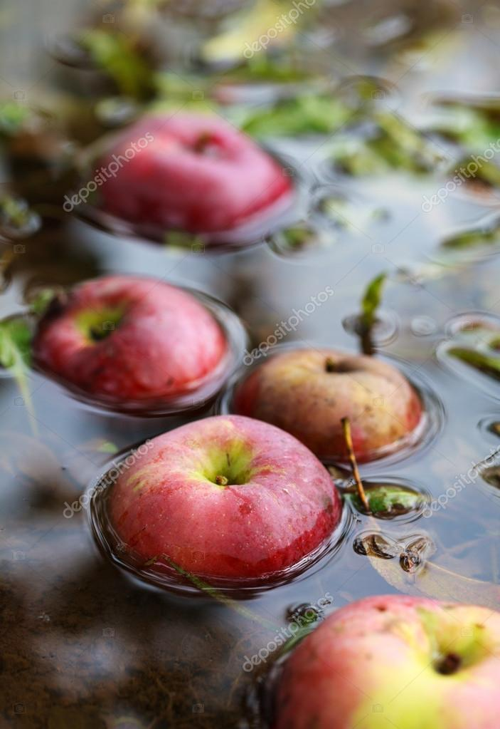 Apples in the water