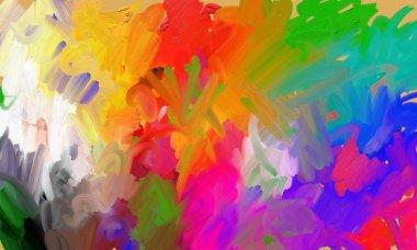 Palette of artist