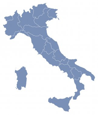 Vector map of Italy