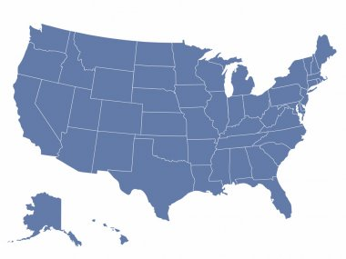 Vector map of the united states of america, each state is in seperate layer thus can be edited easily stock vector