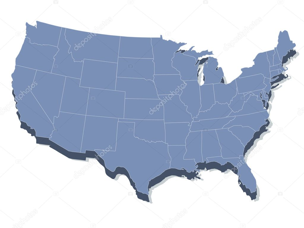 Map Of America 3d Vector.Vector Map Of The United States Of America Stock Vector C Xprmntl
