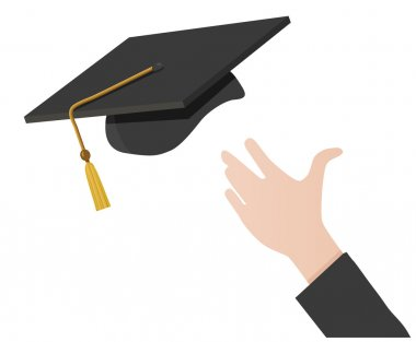 Hand Tossing a Mortarboard