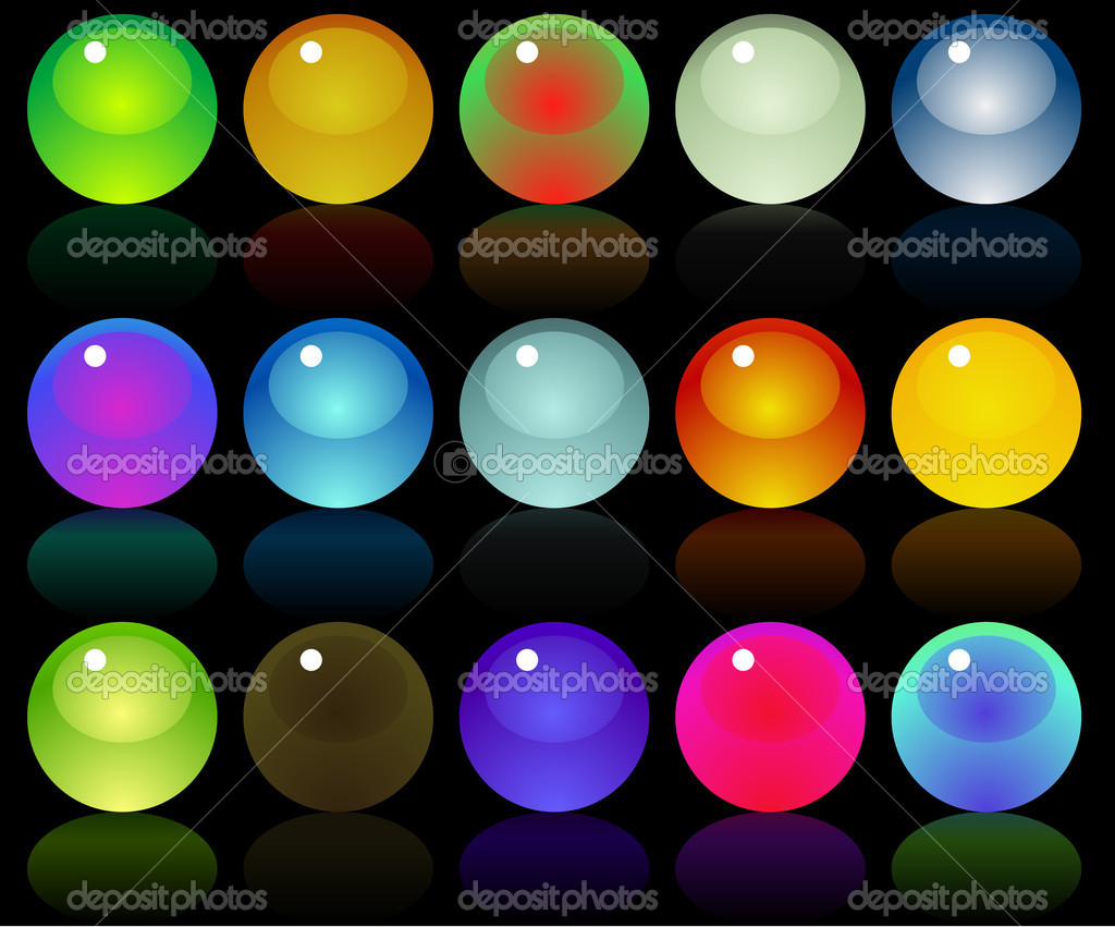 Glossy web buttons icons — Stock Vector © xprmntl #19941705