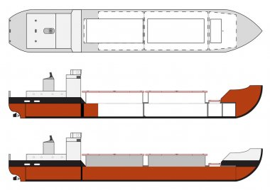 cargo ship with hold details