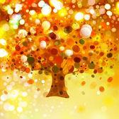 Fényképek absztrakt őszi fa háttér világítás.