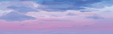 Vector of sky background, sunrise or sunset.