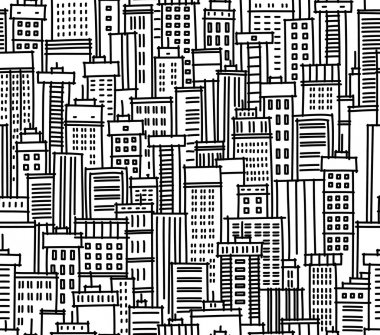 Seamless pattern of city clip art vector