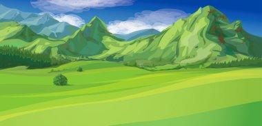 Vector of mountain landscape stock vector