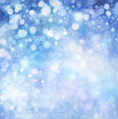 Lights on blue background.