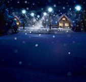 Fotografie Vektor Winterlandschaft
