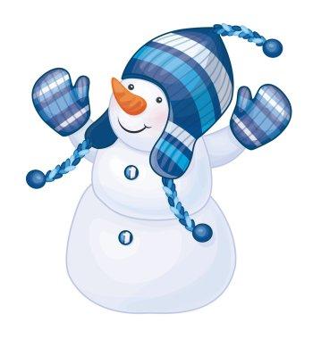 fun snowman isolated.