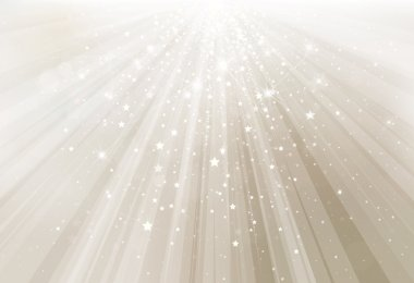 Vector silver background with rays and lights. stock vector