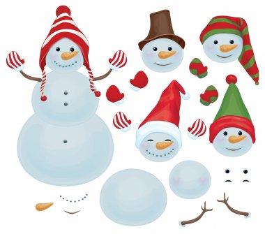 Snowman template, make own snowman