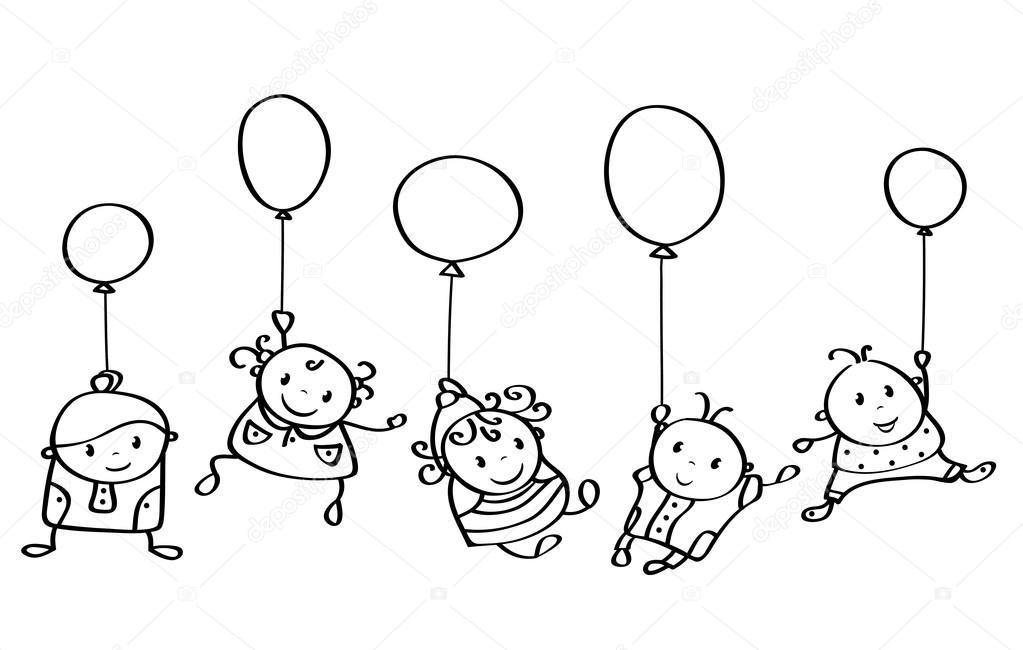 """Résultat de recherche d'images pour """"enfants ballons dessin"""""""