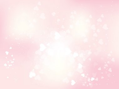 Beautiful abstract background for valentines day with hearts