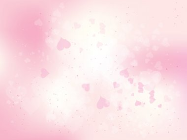 Beautiful abstract background for valentines day with hearts clip art vector
