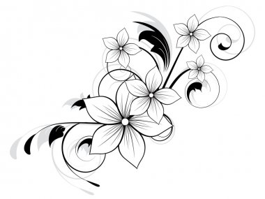 Floral spring element with swirls