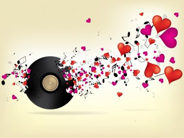 music background with hearts